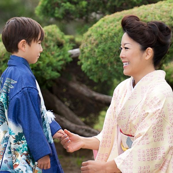 Shichi Go San, Shichi Go San Photography, 753, Boy in Kimono in Japanese Room
