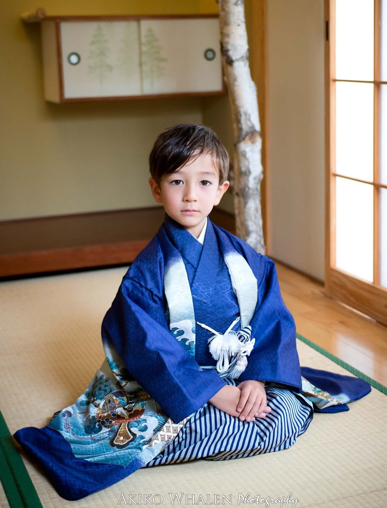 Shichi Go San, Shichi Go San Photography, 753, Boy in Kimono in Japanese Room