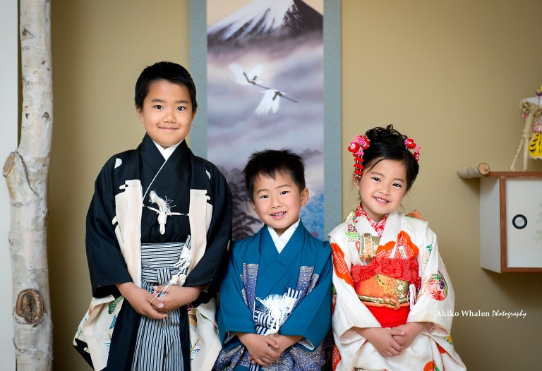 Japanese room, Children in Kimono, Mt.Fuji,