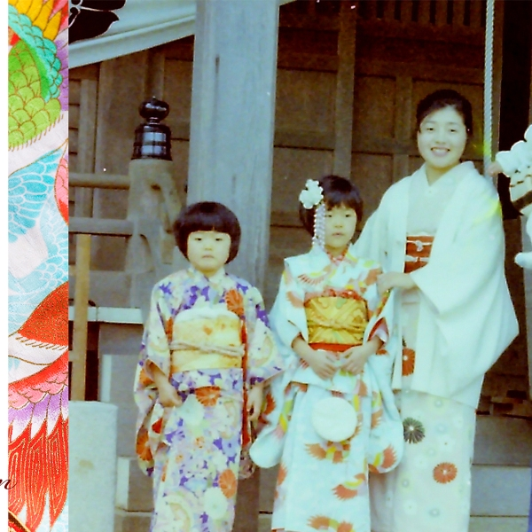 Shichi Go San, Old Photograph, Physical Photograph, Memories, Treasures, Family, Kimono, Japanese Tradition, Japan,