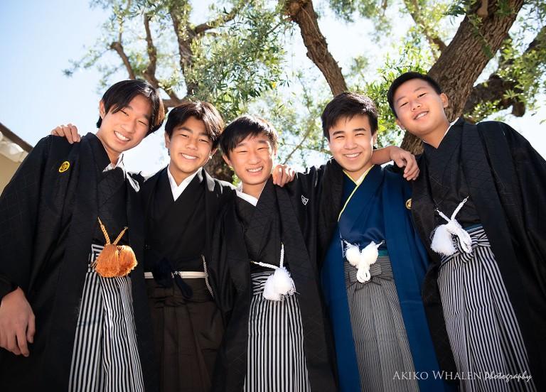 asahi gakuen, asahi gakuen los angeles, asahi, asahi gakuen graduation, boys in kimono, boys in hakama, kimono rental, class of 2021, los angeles portrait photographer, on location photography, graduation photography, teens,
